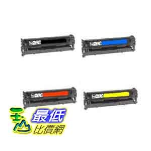 [美國直購] 4 Pack (1 Black + 1 each Color ) New CB540A CB541A CB542A CB543A Compatible Toner Cartridges for HP Color LaserJet CP1215 CP1515n CP1518ni CM1312nfi CM1312 MFP $3071