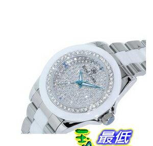 [103 美國直購] White 手錶 Ceramic Watch with Crystal in 18K White Gold Plated Stainless Steel (128932) $4567