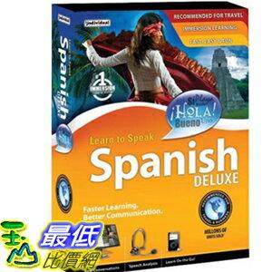 [美國教育軟體] 西班牙語 Learn to Speak Spanish Deluxe4$1055
