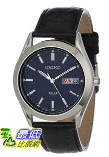 [美國直購 USAShop] Seiko 手錶 Men's SNE049 Solar Strap Blue Dial Watch