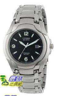 [美國直購 USAShop] Citizen 手錶 Men's BM6060-57F Eco-Drive 180 WR100 Titanium Bracelet Watch
