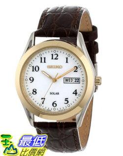 [美國直購 USAShop] Seiko 手錶 Men's SNE056 Solar Strap White Dial Watch $4112