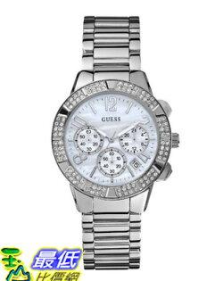 [美國直購 USAShop] GUESS 手錶 Women's U0141L1 Silver-Tone Crystal Sport Chronograph Watch $4439