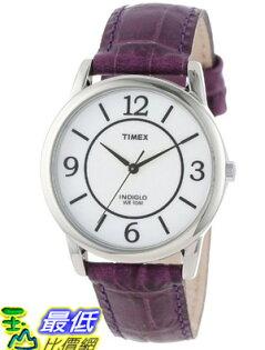 [美國直購 USAShop] Timex 手錶 Women's T2N690TG Stainless Steel and Purple Leather Band Watch