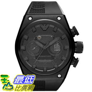 [美國直購 ShopUSA] Emporio Armani 手錶 Men's Super Meccanico AR4903 Black Rubber Analog Quartz Watch with Black Dial #1681891901 _mr