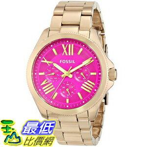 [104美國直購] 女士手錶 Fossil Women's AM4539 Cecile Gold Tone Stainless Steel Watch
