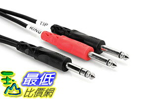 [104美國直購] 線纜 Hosa Cable STP201 TRS To Dual 1/4 Inch Insert Cable - 3 Feet 3 Inches $365
