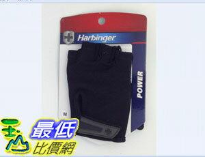 [104美國直購] Harbinger 155 Power StretchBack Glove (Black) 健身手套/重訓手套 黑色