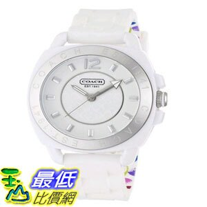 [103美國直購] 手錶 Coach Womens 14501352 Boyfriend White Silicone Watch $5867