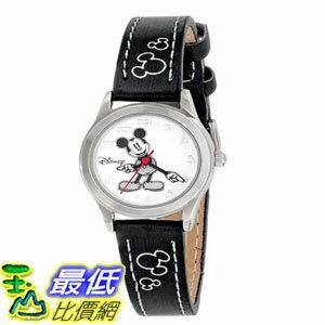 [103美國直購] 手錶 Disney Womens MK1006 Mickey Mouse White Dial Black Strap Watch $913