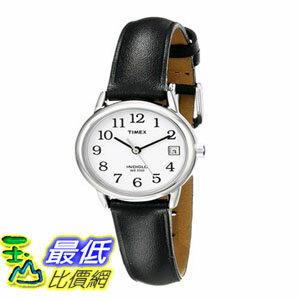 [103美國直購] 女士手錶 Timex Womens T2H331 Easy Reader Black Leather