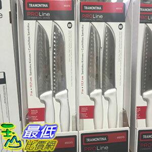 [104限時限量促銷] COSCO TRAMONTINA SANTOKU KNIVER 巴西製不?鋼日式主廚刀 2件組 尺寸:17.7公分 _C800115 $522