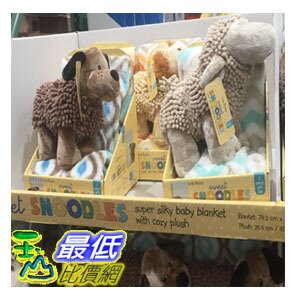[104限時限量促銷] COSCO LITTLE MIRACLES SILKY SOFT BLANKET & NOODLE PLUSH嬰兒隨意毯附玩偶_C919972 $453