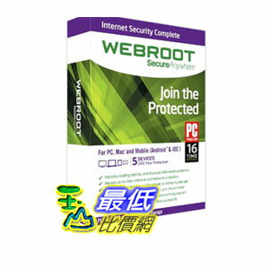 [104美國直購] Internet Security Complete 2015 - 1 Year 5 Device $1979