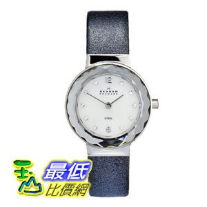 [美國直購 ShopUSA] Skagen 手錶 Mother of Pearl Dial Blue Leather Ladies Watch 456SSLNN $2240