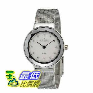 [美國直購 ShopUSA] Skagen 手錶 Mother of Pearl Dial Stainless Steel Mesh Bracelet Ladies Watch 456SSS2 $2449