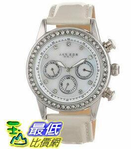 [103 美國直購 ShopUSA] Akribos 手錶 GMT Multi-Function Ivory Patent Leather Ladies Watch AK556SSW bfy $6235