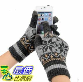 ^~玉山最低 網^~ OUJUESHI 女款雪花針織保暖觸控手套平板電腦 智慧型手機 觸控