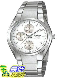 [美國直購 ShopUSA] Casio 手錶 Men's Core MTP1191A-7A Silver Stainless-Steel Quartz Watch with White Dial