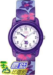 [美國直購 ShopUSA] Timex 手錶 Children's Kids T7B887 Purple Nylon Analog Quartz Watch with White Dial