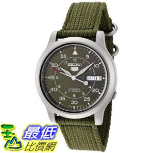 [美國直購 ShopUSA] Seiko Men's SNK805 Seiko 5 Automatic Green Canvas Strap Watch $2780