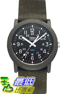 [美國直購 ShopUSA] Timex 手錶 Men's Camper T41711 Green Nylon Quartz Watch with Black Dial