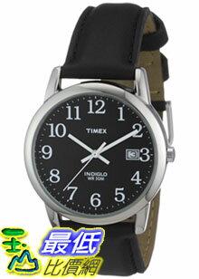 [美國直購 ShopUSA] Timex 手錶 Men's Easy Reader T2N370 Black Calf Skin Analog Quartz Watch with Black Dial