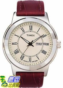[美國直購 ShopUSA] Timex 手錶 Men's Elevated Classics T2E581 Brown Leather Quartz Watch with White Dial