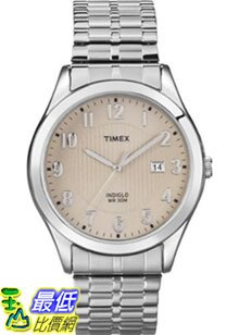 [美國直購 ShopUSA] Timex 手錶 Men's Elevated Classics T2N850 Silver Stainless-Steel Quartz Watch with Beige Dial