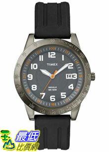 [美國直購 ShopUSA] Timex 手錶 Men's Elevated Classics T2N919 Black Rubber Quartz Watch with Grey Dial
