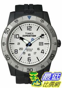 [美國直購 ShopUSA] Timex 手錶 Men's Expedition T49862 Black Resin Quartz Watch with White Dial