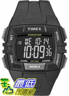 [美國直購 ShopUSA] Timex 手錶 Men's Expedition T49900 Black Resin Quartz Watch with Digital Dial