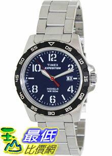 [美國直購 ShopUSA] Timex 手錶 Men's Expedition T49925 Silver Stainless-Steel Analog Quartz Watch with Blue Dial