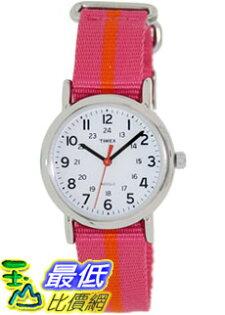 [美國直購 ShopUSA] Timex 中性男女通用錶  Weekender T2P072 Pink Nylon Analog Quartz Watch #1681891770