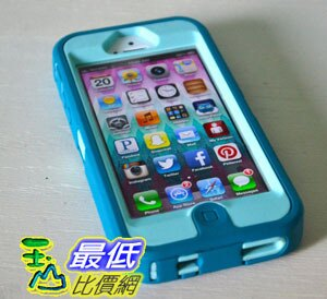 [美國直購 USAShop] Otterbox 保護套 iPhone 5 Defender Series Case - Aqua Blue,Mineral Blue