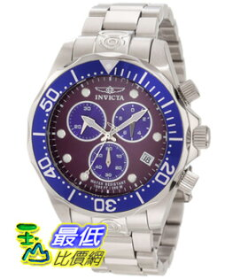 [美國直購 Shop USA] Invicta 手錶 Men's 11489 Pro Diver Chronograph Purple Dial Stainless Steel Watch