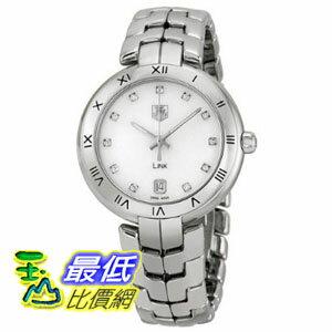 [美國直購禮品暢銷排行榜] 手錶 Tag Heuer Link Mother of Pearl Dial Steel Ladies Watch WAT1315BA0956 $95710