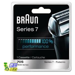 [預購隔月8日寄出] Braun 德國百靈 Series 7 Combi 70S 複合式刀頭刀網匣(銀) Cassette Replacement Pack _T14