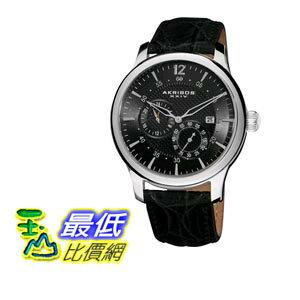 [103 美國直購 ShopUSA] Akribos 手錶 Automatic Multi-Function Black Leather Mens Watch AK537BK bfy $9904