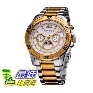 [103 美國直購 ShopUSA] Akribos 手錶 Conqueror Multi-Function Two-Tone Mens Watch AK574TTG bfy $11371
