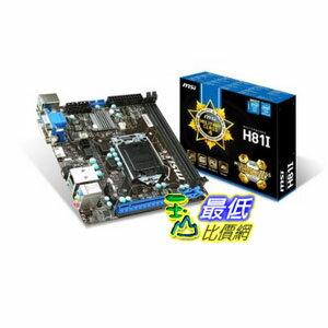 [103 美國直購 ShopUSA] MSI 主機板 Mini ITX DDR3 1600 LGA 1150 Motherboard H81I $3029