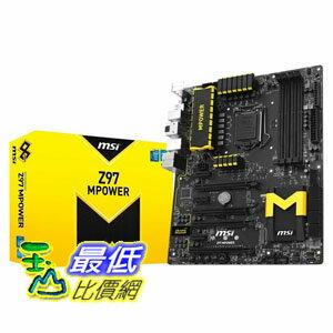[103 美國直購] MSI 主機板 ATX DDR3 2600 LGA 1150 Motherboards Z97 MPOWER $8343