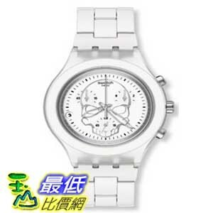 [美國直購 ShopUSA] Swatch Full-Blooded White Skull Chrono 男士手錶 #SVCW4000AG $4861