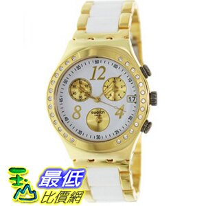 [美國直購 ShopUSA] Swatch 手錶 Irony Dreamwhite Yellow Chronograph Gold-Tone Steel Ladies Watch YCG407G $6242