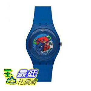 [美國直購 ShopUSA] Swatch 手錶 Men's Indigo Lacquered Blue Silicone Unisex Watch SUON101 $2509