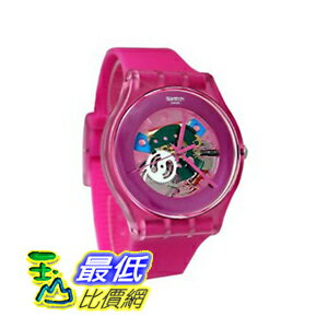 [美國直購 ShopUSA] Swatch 手錶 Men's Pink Lacquered Pink Silicone Unisex Watch SUOP100 $2526