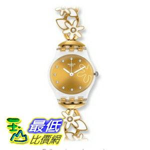 [美國直購 ShopUSA] Swatch 手錶 Originals Flower Spirit Champagne Dial Gold-toned Stainless Steel Ladies Watch LK329G $2719