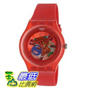 [美國直購 ShopUSA] Swatch 手錶 Men's Red Lacquered Red Silicone Unisex Watch SUOR101 $2383