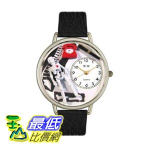 [美國直購 ShopUSA] Whimsical 手錶 Watches Unisex U0620020 Orthopedics Black Skin Leather Watch $1769