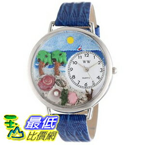 [美國直購 ShopUSA] Whimsical 手錶 Watches Unisex U1212001 Palm Tree Royal Blue Leather Watch $1898